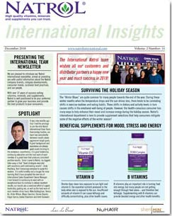 December 2018 Natrol International Newsletter #14