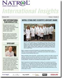 February 2018 Natrol International Newsletter #4