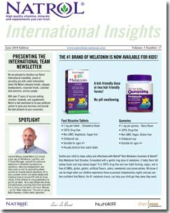 June 2019 Natrol International Newsletter #17