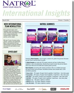 March 2018 Natrol International Newsletter #5