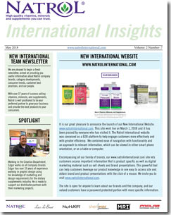 May 2018 Natrol International Newsletter #7