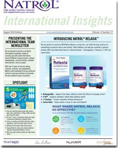 August 2020 Natrol International Newsletter #27
