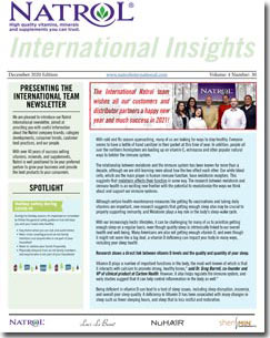 December 2020 Natrol International Newsletter #30