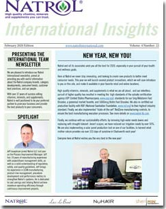 February 2020 Natrol International Newsletter #22