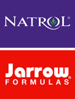 Natrol and Jarrow logos