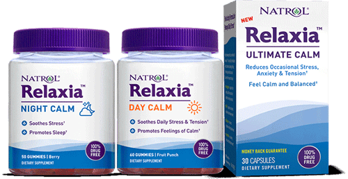 New Natrol Relaxia line of stress reducing products